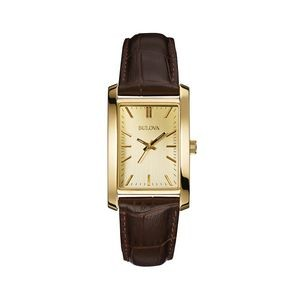 Bulova Ladies' Leather Strap Corporate Collection Watch